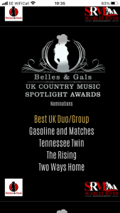 Preview image of Tennessee Twin nominated for two UK Country Awards! blog post